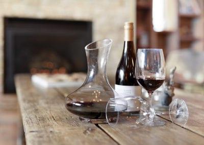 lounge fire wine