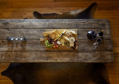 lounge table with platter